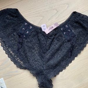 Victoria's Secret Lace Black Shorts